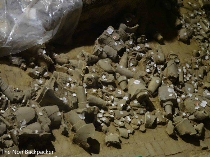Broken Pieces of Terracotta Warriors