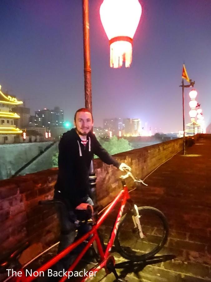 Husband with the bike